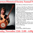 Annual Meeting — Sunday, November 12, 2-4pm