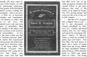 3-year old Amelie Reinhold dies, sad but common in 1908