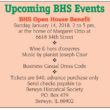 BHS Open House Benefit – January 14, 2018 2-5PM